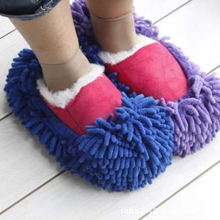 雪尼尔擦地拖鞋懒人拖拖地鞋套多功能拖把套除尘鞋套厂家直销