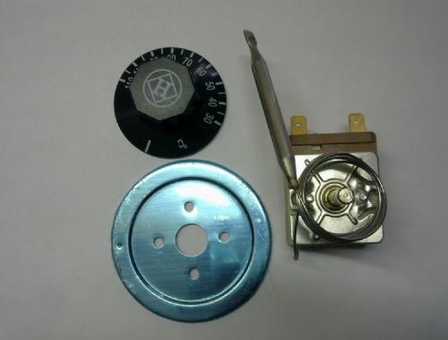 四:接线方法: 温控器有2个接线片