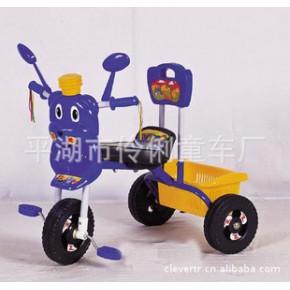 帶反光鏡的卡通熊 兒童三輪車