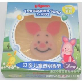 贝亲-儿童透明香皂(小猪皮杰卡通人物)IA70