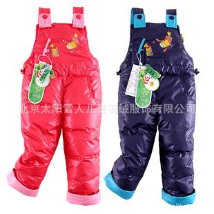 太阳雪人儿童羽绒裤_特价促销正品2011新款太阳雪人儿童羽绒裤背