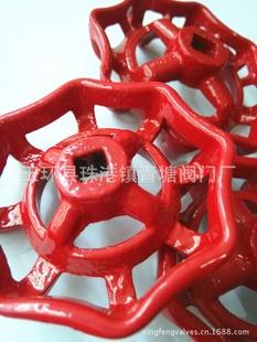 红生铁手轮/红铸铁手轮/铁皮红手轮/红色法兰手轮 图1