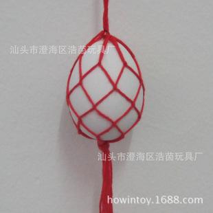 五彩线纯手工艺编织 鸡蛋网兜 鸭蛋网兜网袋 端午节