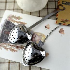 新品不銹鋼愛心柄濾茶勺、濾茶器、茶球、茶漏JST33、34