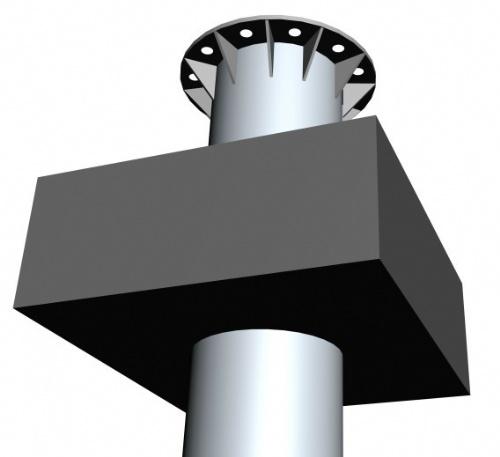 鋼結構軟件,鋼桿計算軟件,,鋼管樁基礎變形計算,鋼管樁基礎結構圖