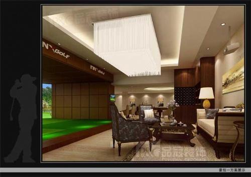 室内装修设计方案 吧台装修效果图 郑州装饰设计公司 品冠装饰