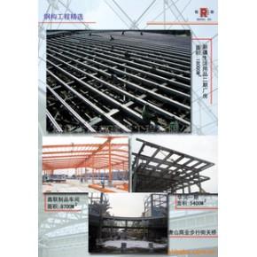 門式鋼架、型鋼梁柱、C型檁條、壓型鋼板加工訂制