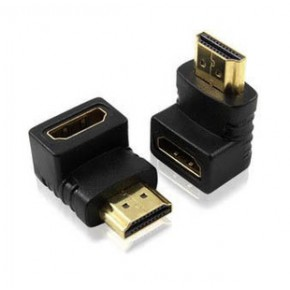 90度HDMI转接头 高清HDMI公对母转接头