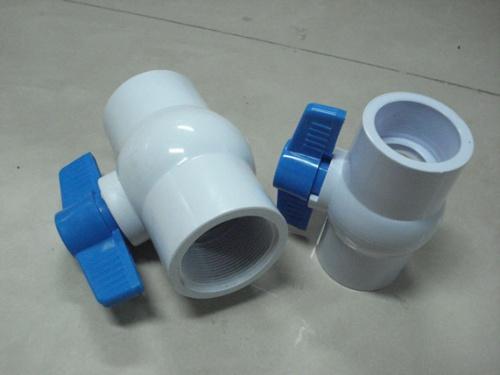 塑料pvc阀门 白色全新料螺纹美制球阀图片