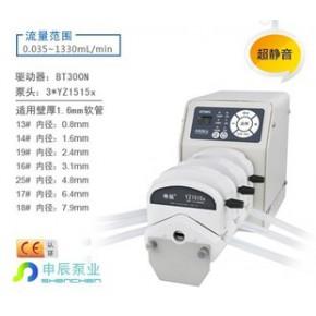 实验室恒流泵 型号:BT300N 泵头:3*YZ1515