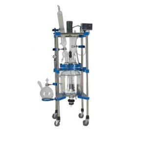 杭州大卫双层玻璃反应釜 变频调速 下放料 型号:100L