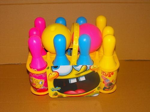 海绵宝宝保龄球澄海吹塑体育运动休闲亲子互动启智早教室内户外玩具