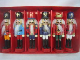 12cm胡桃夹子木偶 家居装饰 生日礼品 套六 套装礼盒