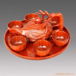 供应海门红木工艺品 花梨木茶具