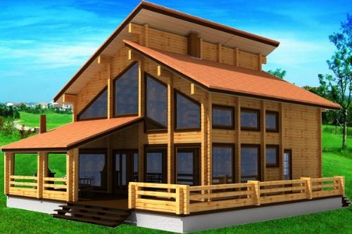 木屋别墅介绍 防火防震的木屋房子