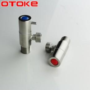 304不銹鋼角閥 4分三角閥無鉛止水閥門冷熱水龍頭分水閥