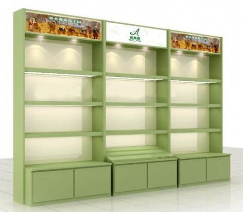 天津木制展柜精品货架卖场货架烤漆展柜欧式货架柜台