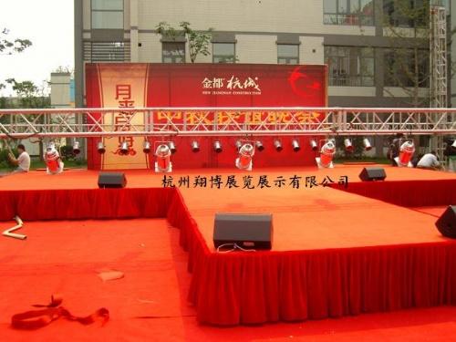 杭州展会搭建 杭州桁架搭建 杭州舞台搭建图片