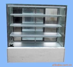 【日式面包展示柜,冷柜 大理石,玻璃,不锈钢灯架,铝皮