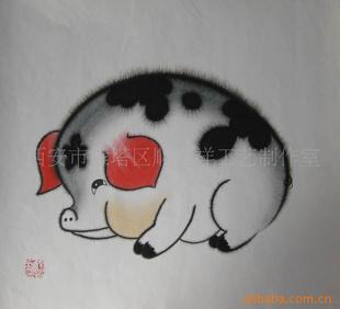 猪的美术创意图片