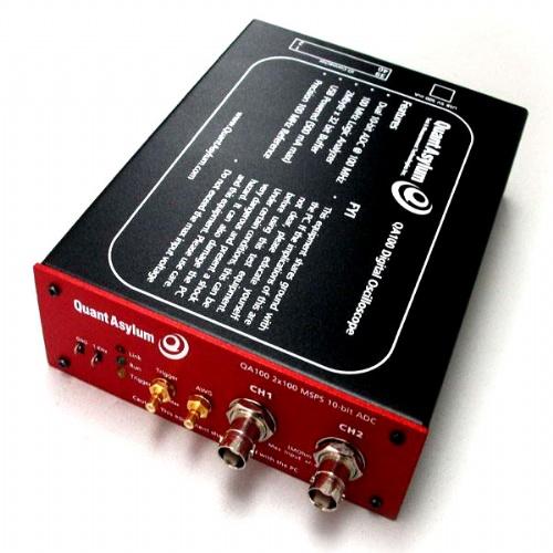 qa100混合信号示波器是通过通用串行总线(usb)连接到电脑的外部设备