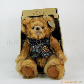 russ毛绒玩具 关节熊 优质外贸尾单毛绒玩具