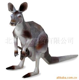 小动物袋鼠雕塑