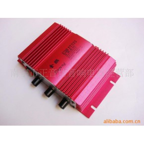 用12V升壓大功率功放板組裝的直流車載電瓶用功放機