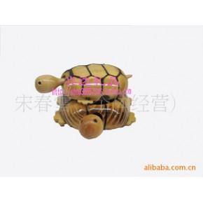 木制玩具(母子龟)新奇特-工艺品摆件-木制工艺品