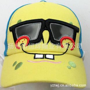 正品迪士尼帽子儿童帽子海绵宝宝帽子