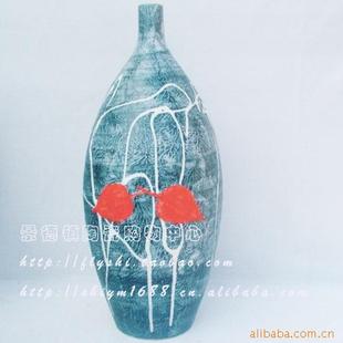 景德镇树叶创意雕刻花瓶12