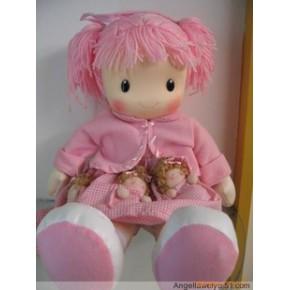 兒童玩具布娃娃,親親母女娃娃,洋娃娃  三色