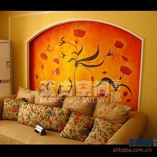 【重庆墙绘沙发背景 欧式风格背景墙