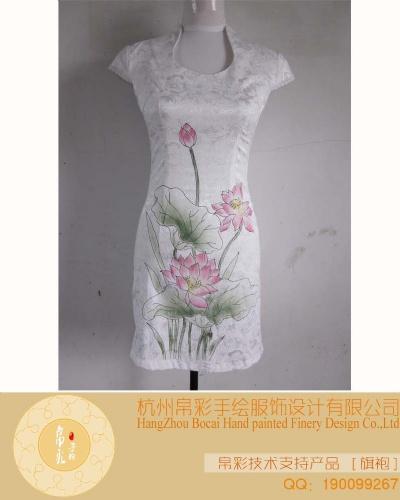 2012时尚手绘旗袍,婚纱,礼服,唐装,围巾等设计加工优惠