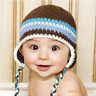 【手工编织儿童帽子 毛线帽