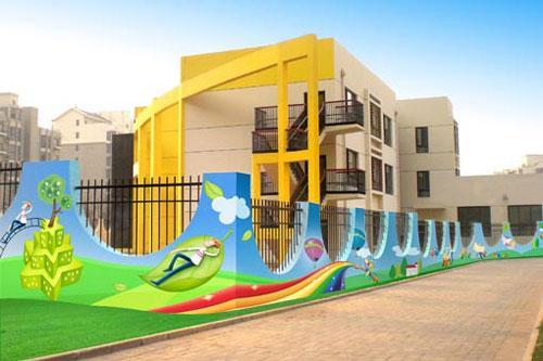 鹤壁淇县幼儿园手绘墙画