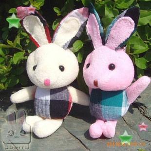 批发供应毛绒玩具 花布风格可爱全力兔子挂件/礼品