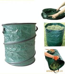 pe折叠桶pvc园林垃圾桶树叶桶弹簧桶手拎