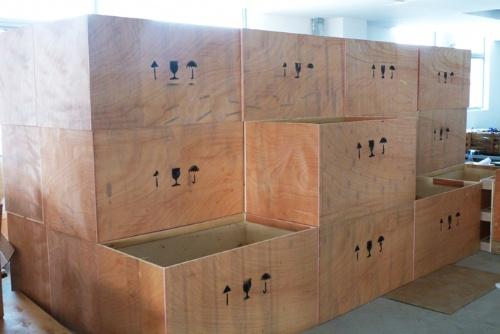 木箱木包装箱镀锌钢带无钉卡扣木箱木托盘物流木包装