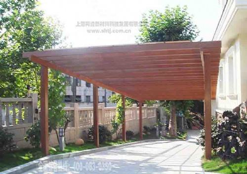 铝合金仿木纹葡萄架 仿木廊架模型及效果图