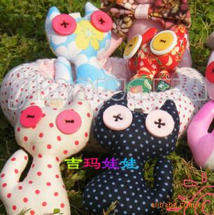 吉玛娃娃 手工布偶 布偶diy 家居布艺 玩偶 小吉祥猫咪