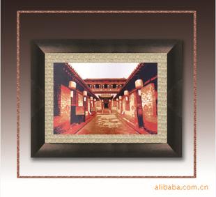 山西民间纯手工镜框装裱剪纸画—乔家大院