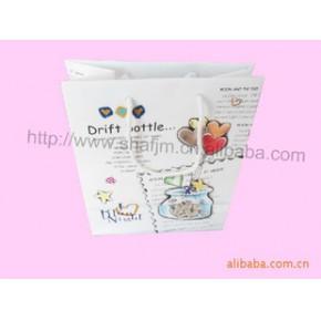 PVC磨沙手提袋印刷,卡通塑料手提袋印刷, 塑料購物袋印刷