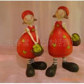 树脂家居草莓女孩摆件-田园家居摆件-家居装饰摆件-婚礼用品