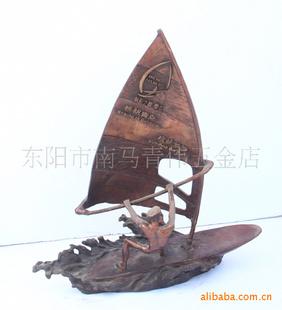 铜工艺品,铜帆船,青岛帆船之都纪念品(厂家直销)