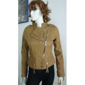 2011新款精选水洗羊皮短衣时尚日韩风格P602皮衣工厂加工