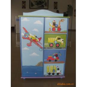 木制儿童手绘衣柜/工艺家具收纳柜储物柜