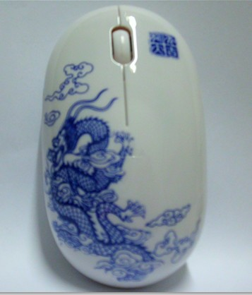 青花瓷鼠标(祥云龙图案)