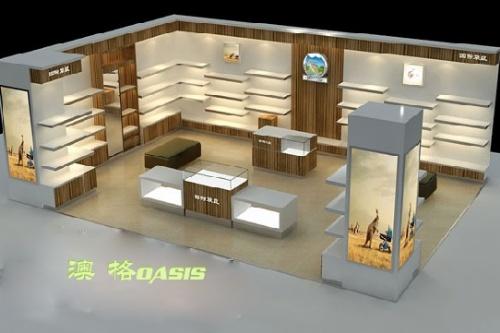 此款产品是结合现代风格专业为专卖店设计的一款高端 展柜,适合用在
