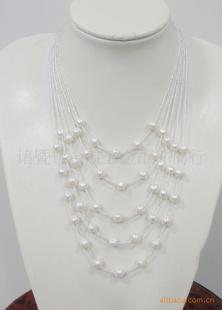 珍珠项链,珍珠饰品,项饰加盟代理,水晶项饰,8-9